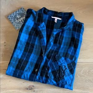 Victoria's Secret Plaid Pajama Top